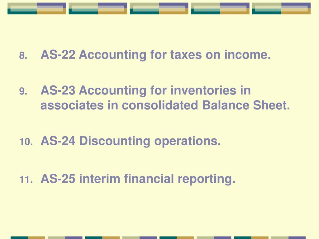 AS-22 Accounting for taxes on income.