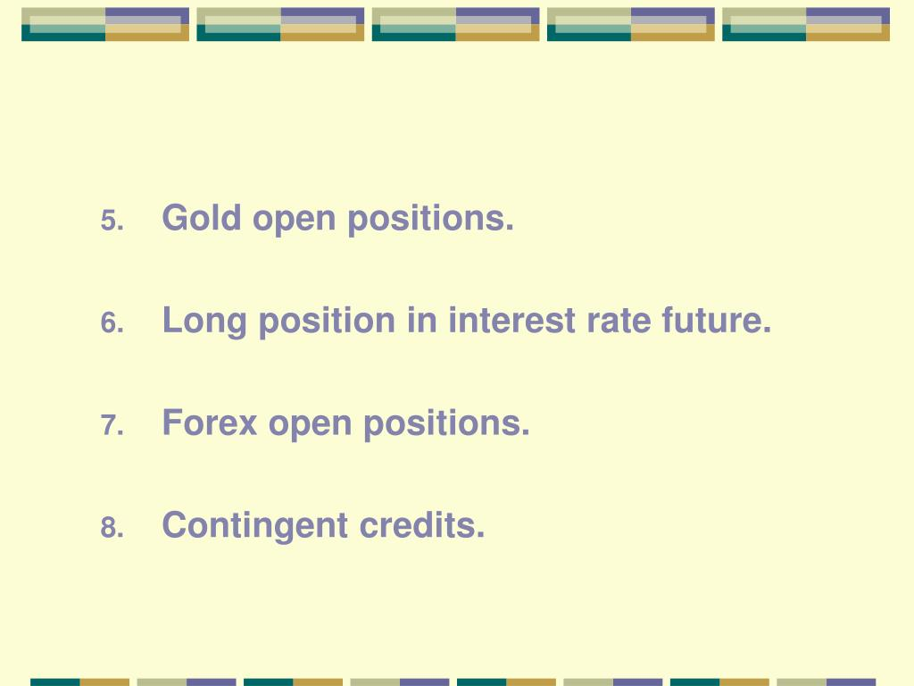 Gold open positions.
