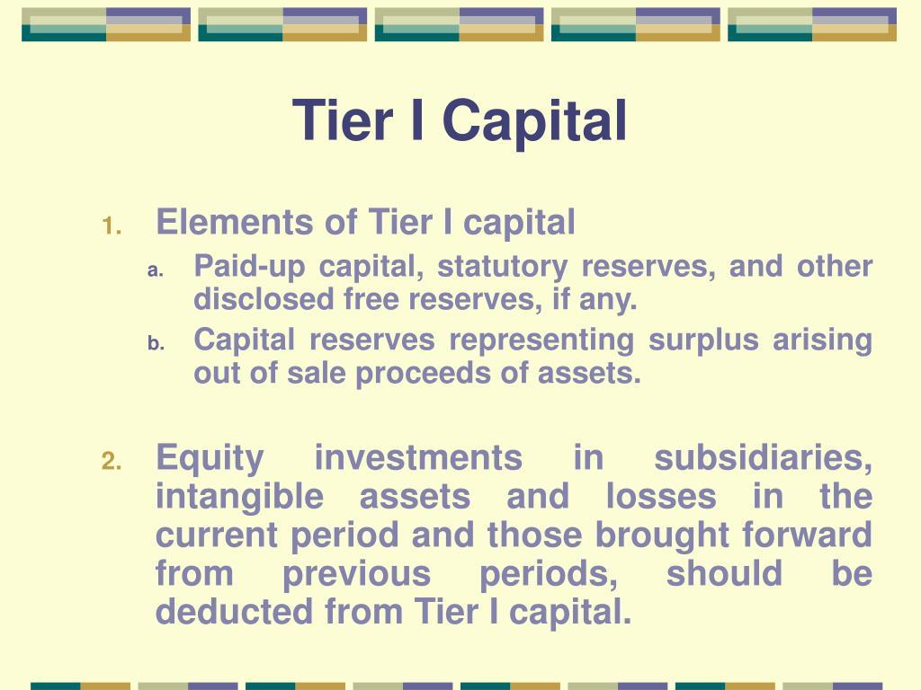 Tier I Capital