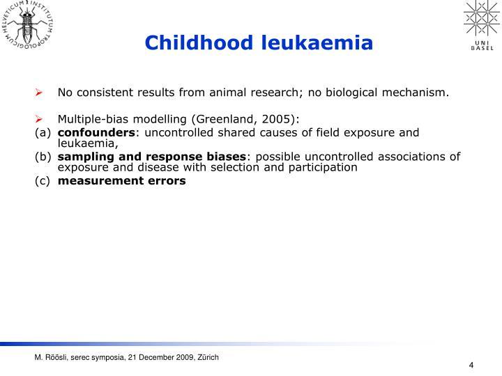 Childhood leukaemia