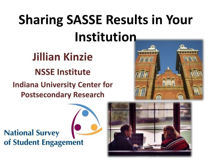 sharing sasse results in your institution n.