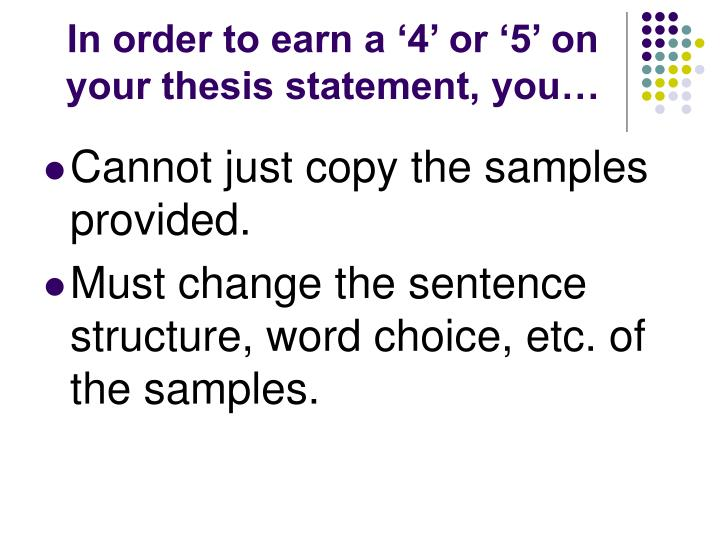 order thesis statement