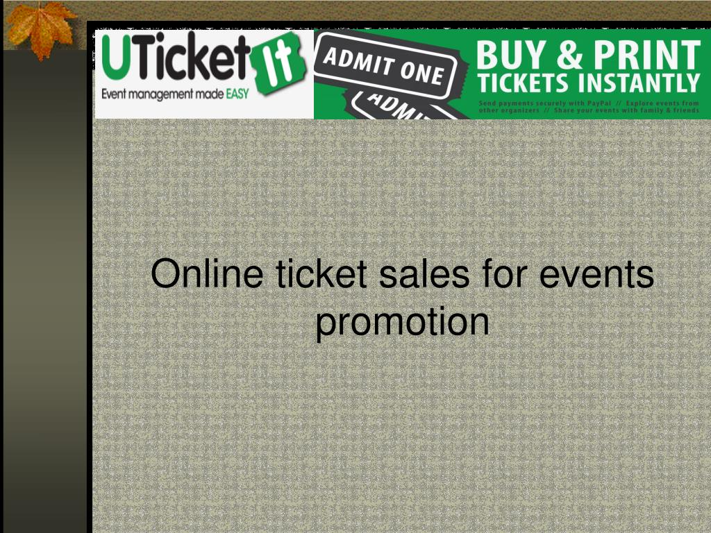 online ticket sales for events promotion l.
