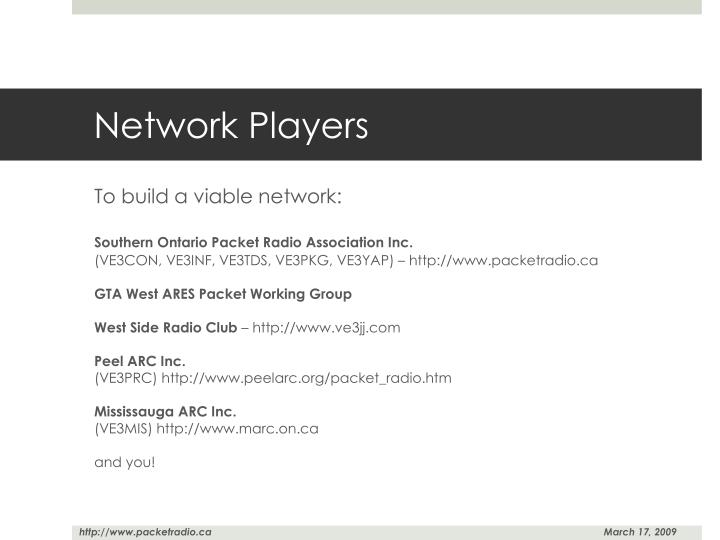 Network Players
