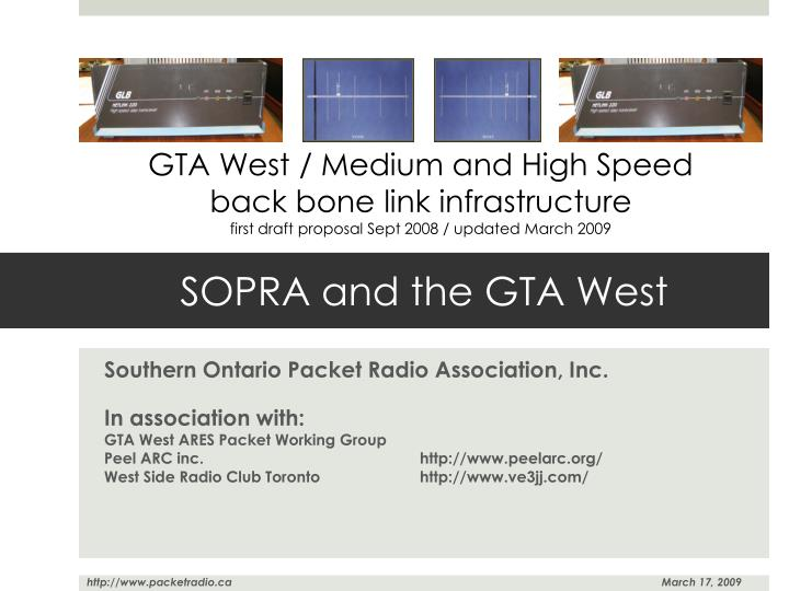 Sopra and the gta west