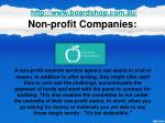 non profit companies