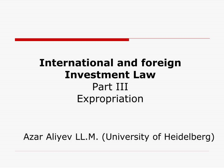 foreign investment presentation essay Foreign direct investment (f di) acquired an important role in the international economy after the second world war theoretical studies on fdi have led to a better understanding of the economic mechanism and.