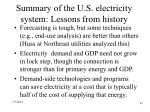 summary of the u s electricity system lessons from history