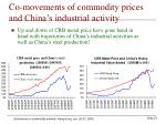 co movements of commodity prices and china s industrial activity