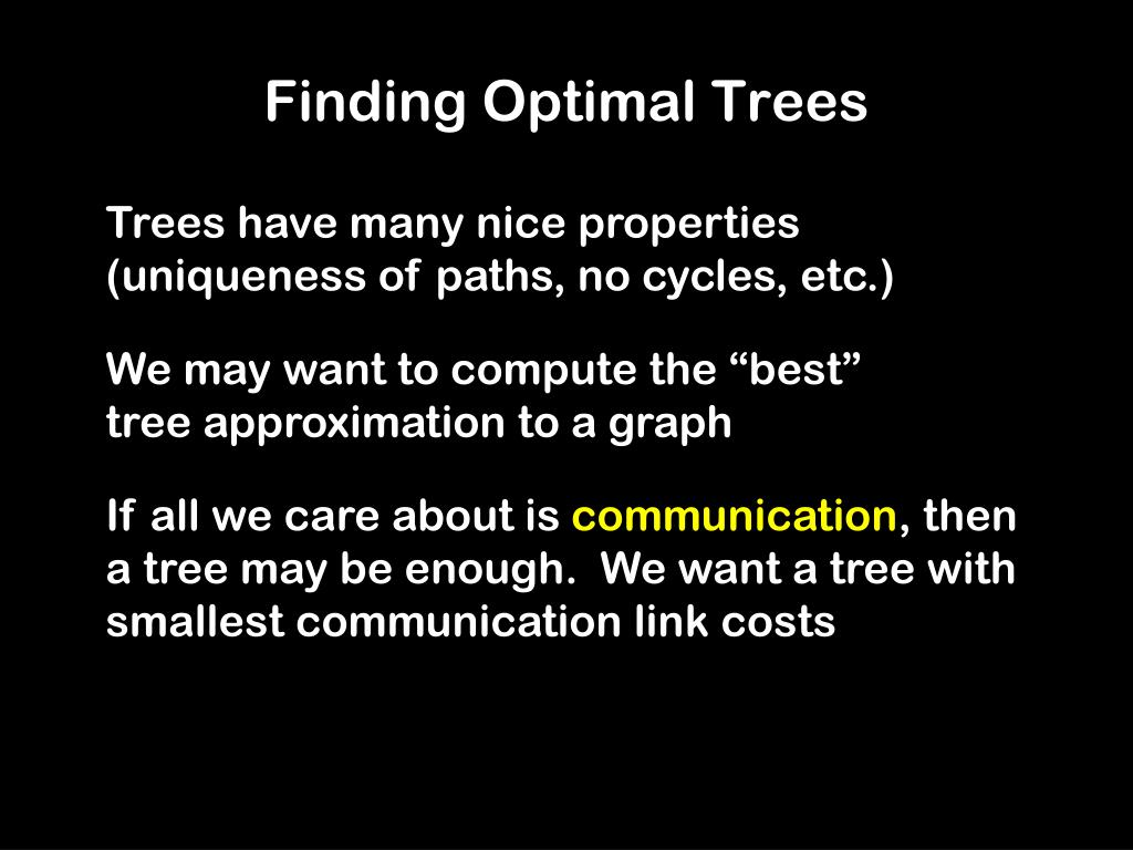 Finding Optimal Trees