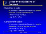 cross price elasticity of demand35