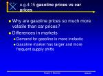e g 4 15 gasoline prices vs car prices
