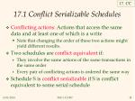 17 1 conflict serializable schedules