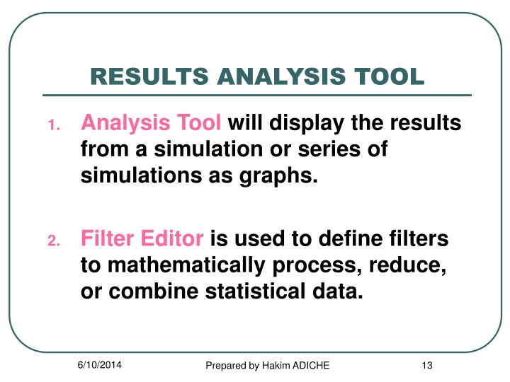 RESULTS ANALYSIS TOOL