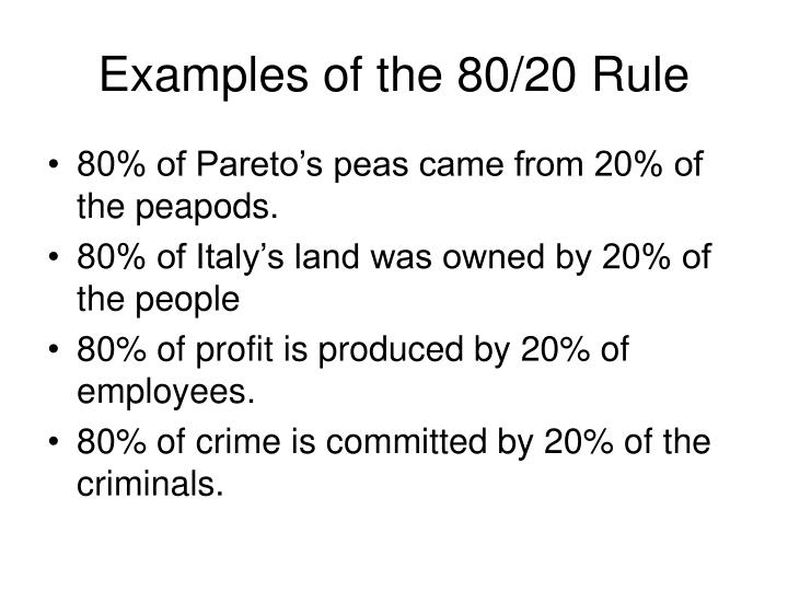 Ppt The 8020 Rule Powerpoint Presentation Id1479626