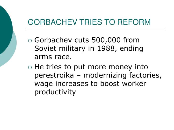 GORBACHEV TRIES TO REFORM