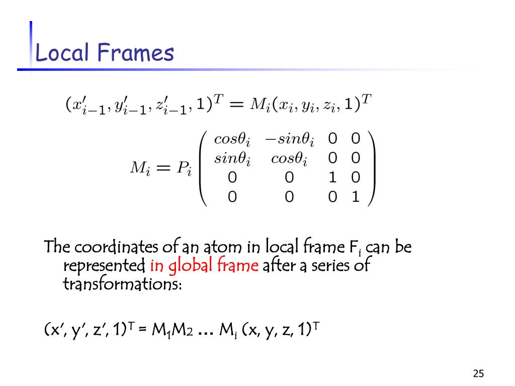 Local Frames