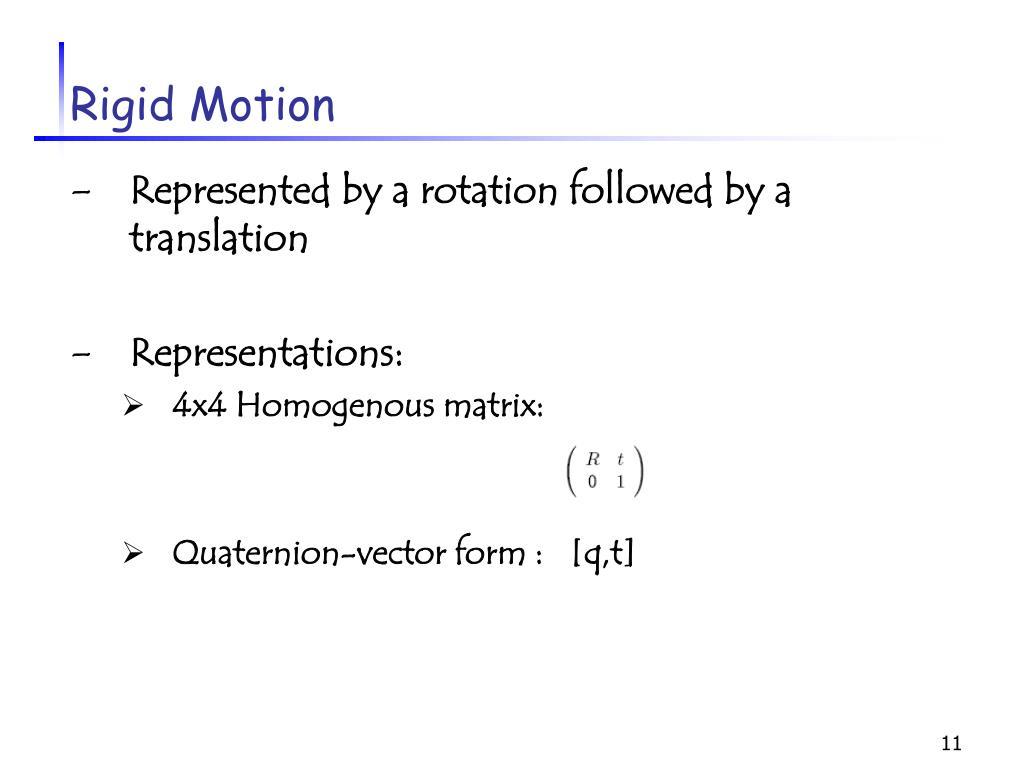 Rigid Motion