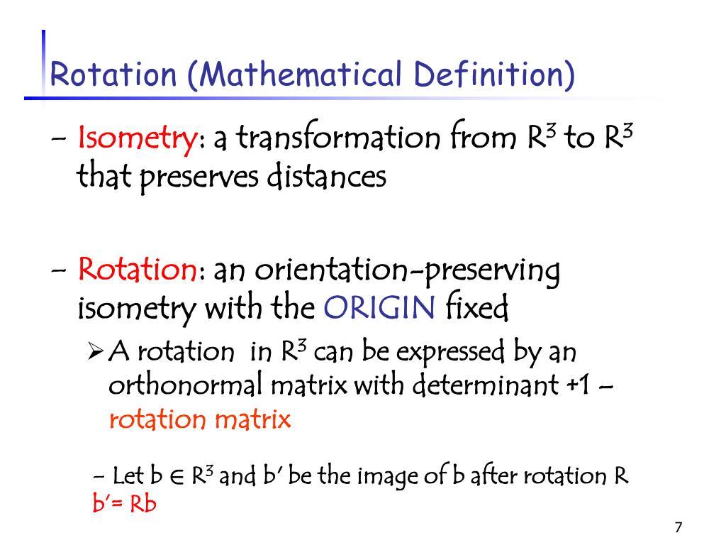 Rotation (Mathematical Definition)
