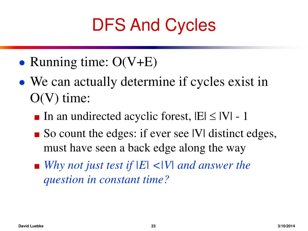 DFS And Cycles