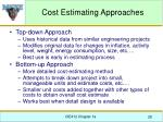 cost estimating approaches
