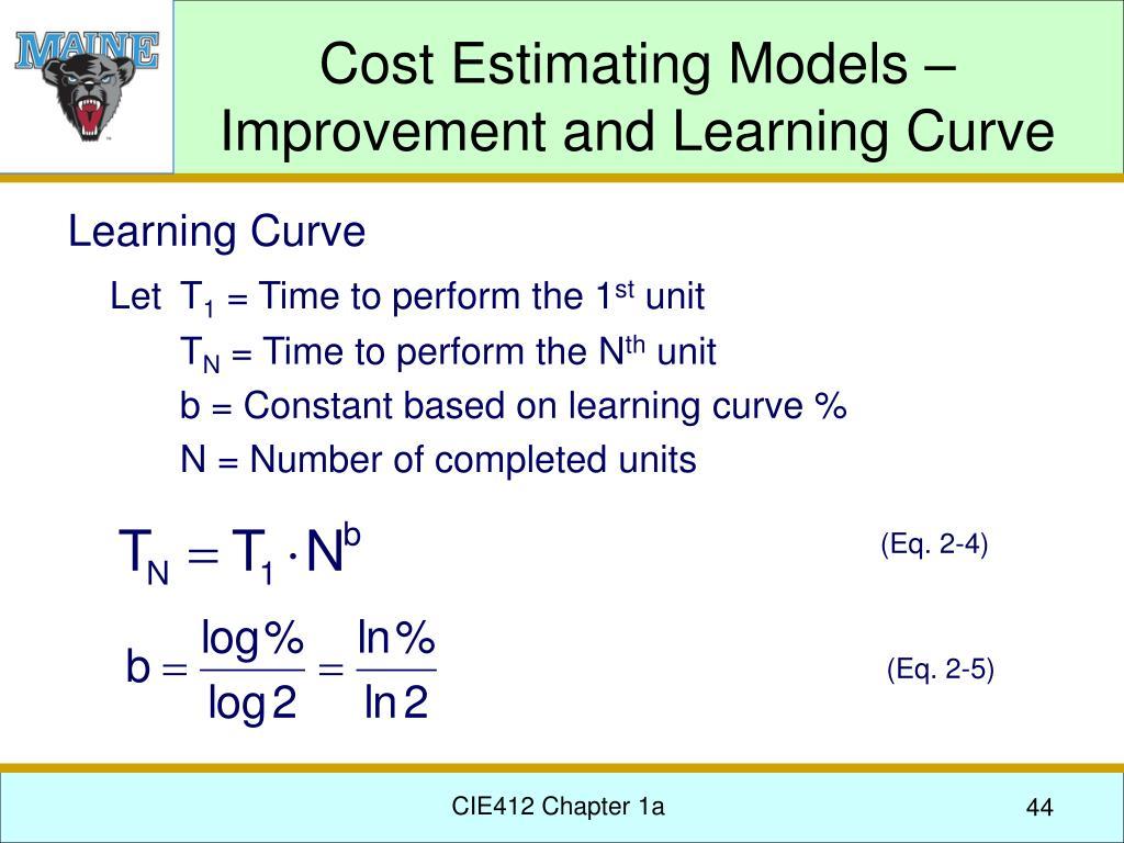Cost Estimating Models –