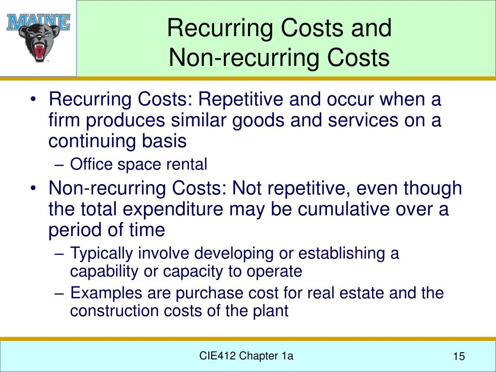 Recurring Costs and