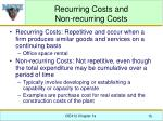 recurring costs and non recurring costs