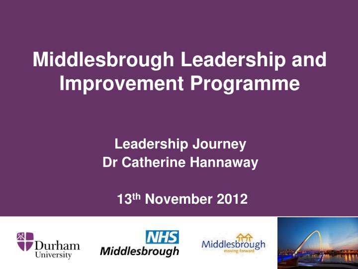 middlesbrough leadership and improvement programme n.