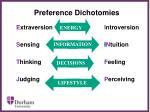 preference dichotomies