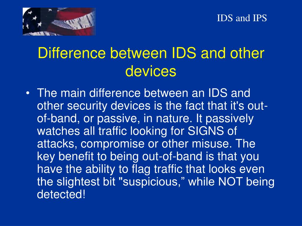 Difference between IDS and other devices
