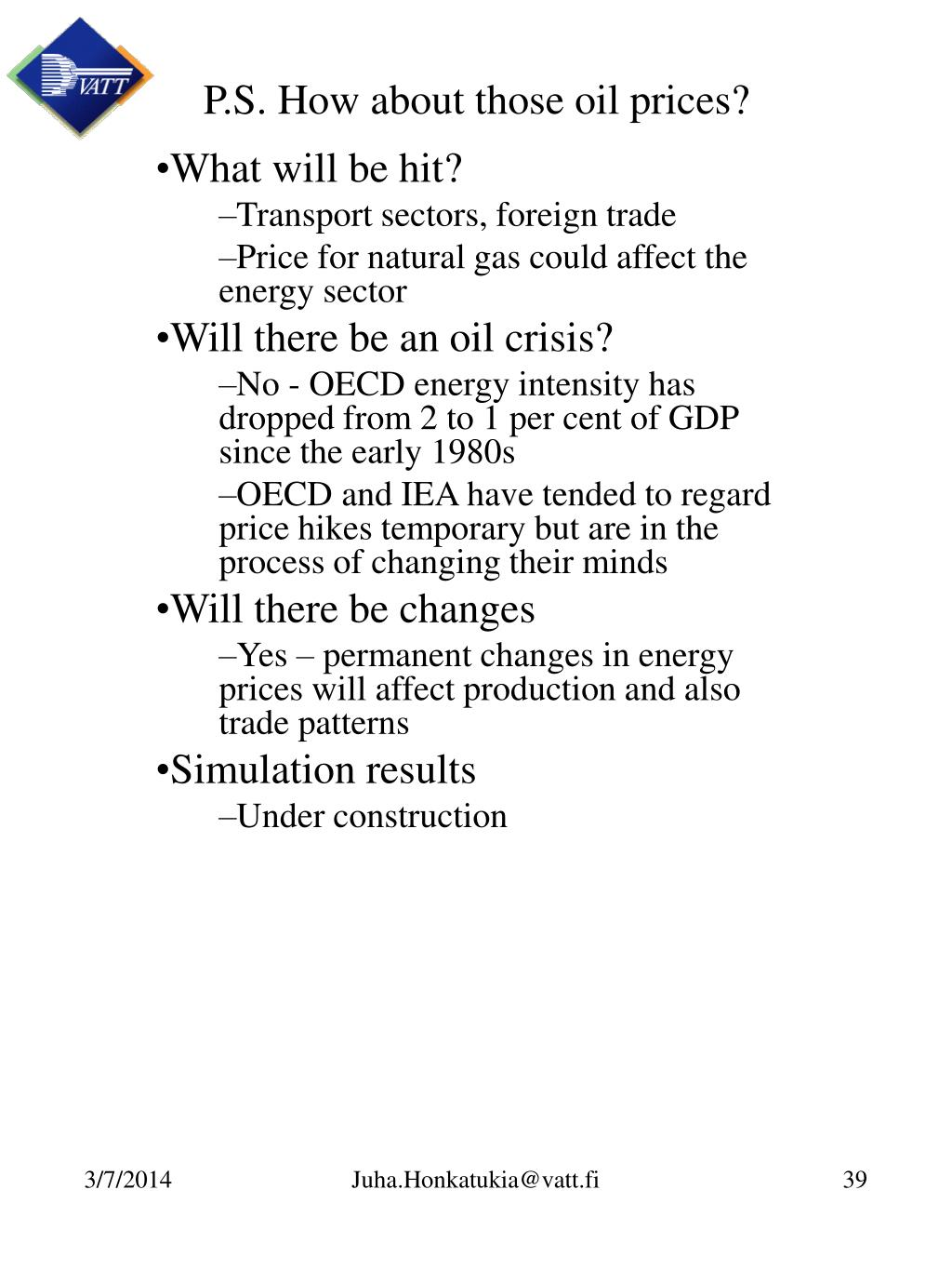 P.S. How about those oil prices?