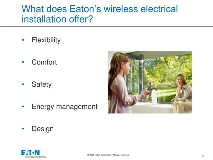 What does eaton s wireless electrical installation offer1