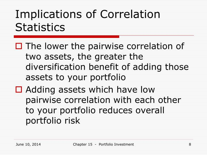 Implications of Correlation Statistics