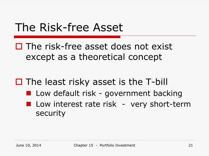 The Risk-free Asset