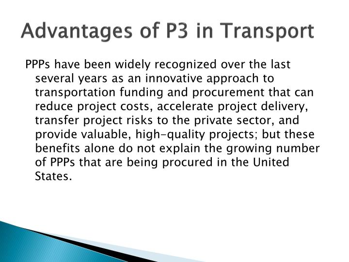 Advantages of p3 in transport