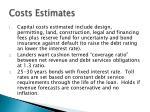 costs estimates