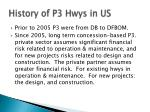 history of p3 hwys in us