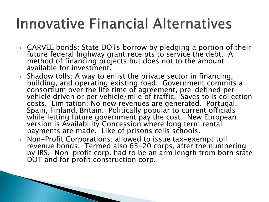 Innovative Financial Alternatives