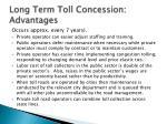 long term toll concession advantages32