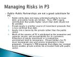 managing risks in p316