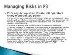 managing risks in p318