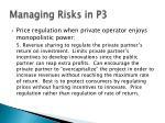 managing risks in p319