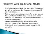 problems with traditional model