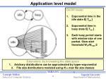 application level model