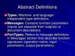 abstract definitions