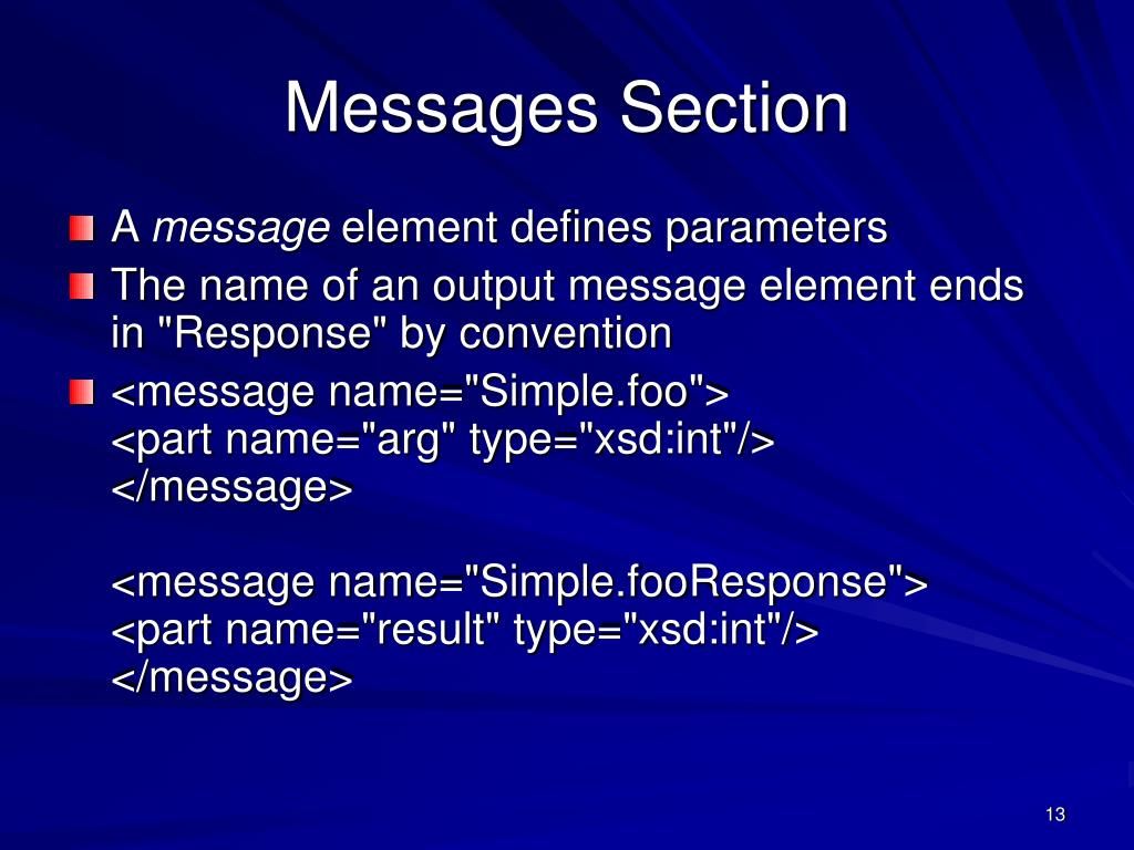 Messages Section