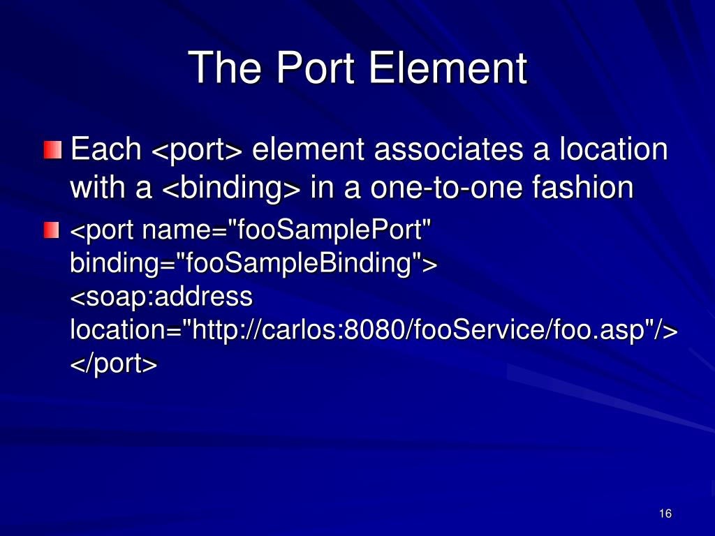 The Port Element