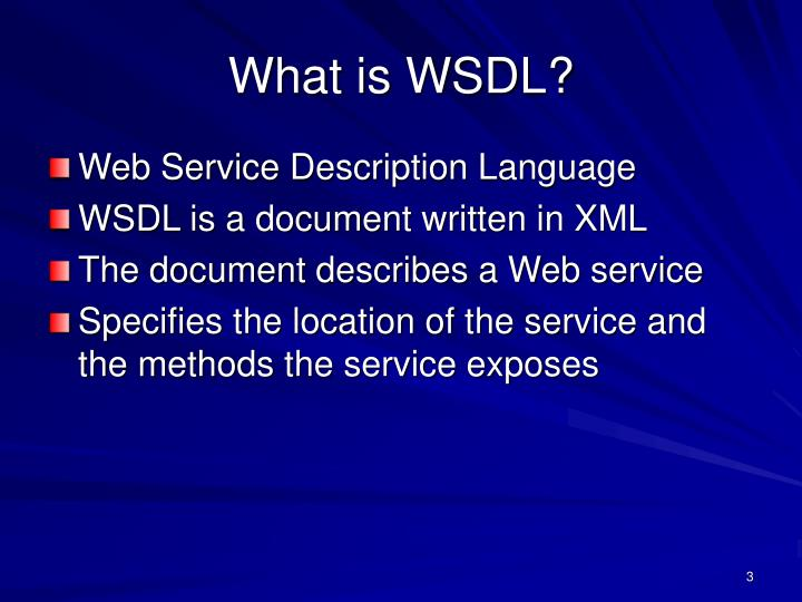 What is wsdl