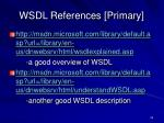 wsdl references primary